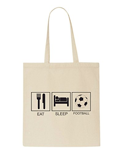 Tote Shopper Football Sleep Eat Tiles Bag Beige Hobby Funny Activity SYx87xw