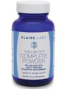 Klaire Labs - Ther-biotic complete powder (100+ BILLION CFUs MULTI-SPECIES PROBIOTIC SUPPLEMENT) 60 грамм (2.1 унции)