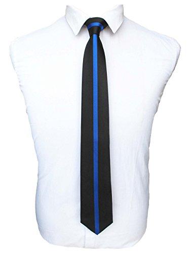 JEMYGINS Blue Line Tie Silk Necktie Ties for Men (1)
