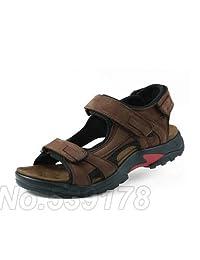 HONGLONG Men sandals summer genuine leather outdoor