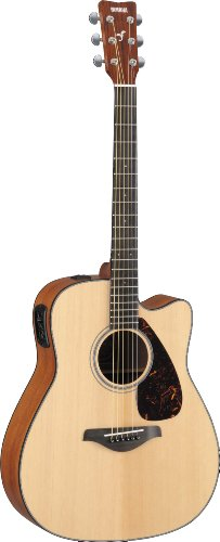 Yamaha FGX700SC Solid Top Acoustic-Electric Guitar, Natural