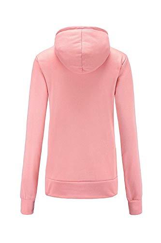 à capuche femme large taille X Sweat hiver couleur Zhrui vert pull rose poches solide décontracté 5aRfAn