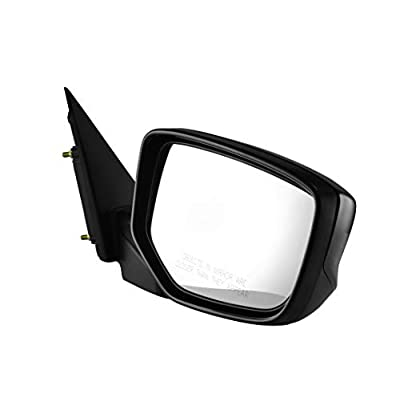 Passenger Side View Mirror - Unpainted, Heated, Power Operated, Manual Folding, Side View Mirror for 2008-2012 Honda Accord - Parts Link #: HO1321231: Automotive
