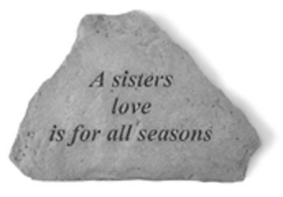 UPC 707509716202, Kay Berry- Inc. 71620 A Sisters Love Is For All Seasons - Garden Accent - 5.25 Inches x 3.75 Inches