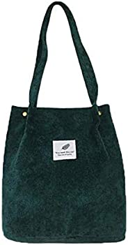 WantGor Corduroy Totes Bag Women's Shoulder Handbags Big Capacity Shopping