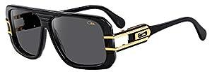 Cazal Sunglass CZ 658/3 color 001SG Black-Gold/Grey Lenses Size 58mm