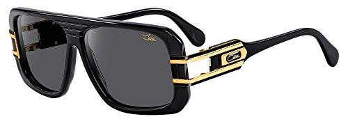 Cazal Sunglass CZ 658/3 color 001SG Black-Gold/Grey Lenses Size - Sunglasses Cazal Gold