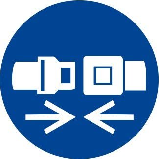 Etichetta Adesiva Pittogramma Segnale Di Obbligoobbligatorio