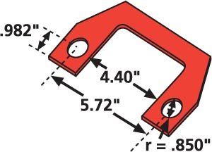 Specialty Products Company 36002 1/16'' Thrust Angle Shim for Peterbilt/Kenworth, (Pack of 6)