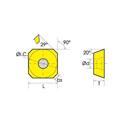 HHIP 6016-0123 SEET//DR Carbide Insert.500 IC