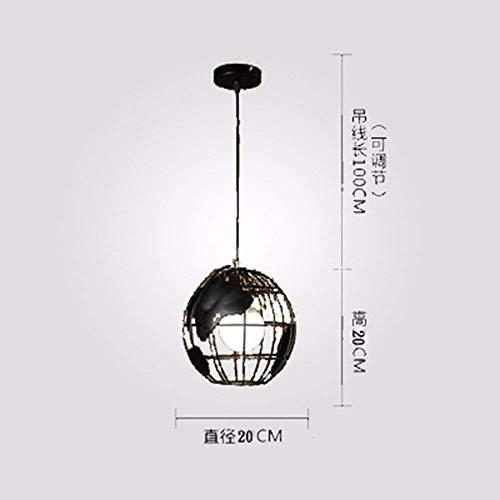 GUI Guo Home Vintage Chandeliers Dormitorio de iluminación Creativa Dormitorio Sala de Estar Lámparas de Personalidad y...