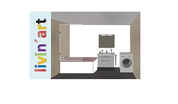 livinart - Panel de pared para baño (compuesto de aluminio), color blanco: Amazon.es: Bricolaje y herramientas