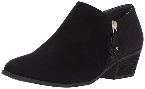 Dr. Scholl's Shoes Women's Brief Ankle Boot, Black Microfiber Suede, 7.5 M US