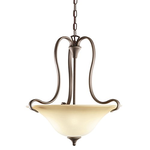 Kichler Wedgeport Inverted Pendant (Olde Bronze 2-Bulb Indoor Pendant with Bowl-Shaped Glass Shade 3585OZ)