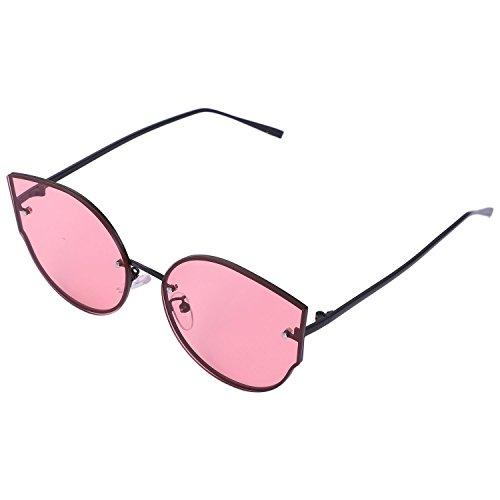 de de de gato sol de Gafas moda marco de mujer Gafas UV400 sol S17014 negro ojo grande de lujo rojo SODIAL de gafas AgIxq