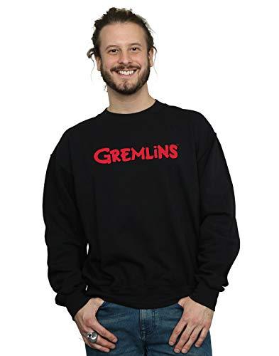 Cult shirt Absolute Homme Noir Sweat Logo Text Gremlins 7wxdwRp