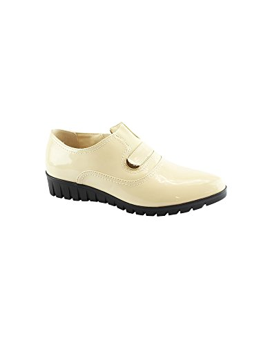 Liyu Grippy Strap 6 Inset Adult 11 Women Elastic Oxford Shoes Outsole Beige T4wqTXxFr