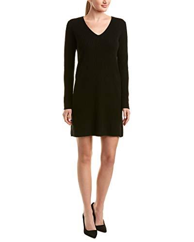 White + Warren Womens Wool & Cashmere-Blend Sweater Dress, Xs, Black
