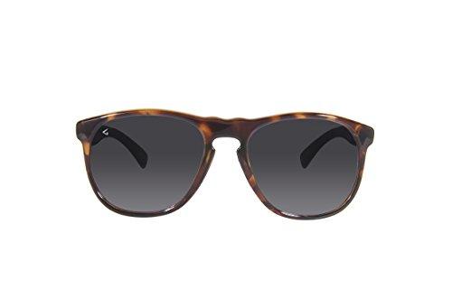 GHNDY Italy Made Unisex Polarized Square Wayfarer Aviator Sunglasses (Jagger Havana, - Eco Friendly Sunglasses Made