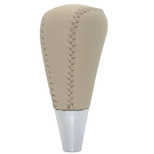 Pursuestar Tan Beige Leather Gear Shift Knob for Toyota Camry Solara Sienna Avalon Crown RAV4 Hiace Grey Mazda 3 6 Lexus LX470