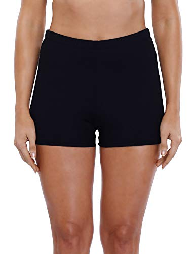 Boy Cut Swimwear - CharmLeaks Womens Swim Shorts Boardshorts Board Shorts Swim Trunks For Women Size 10,Black(fulfilled By Amazon)