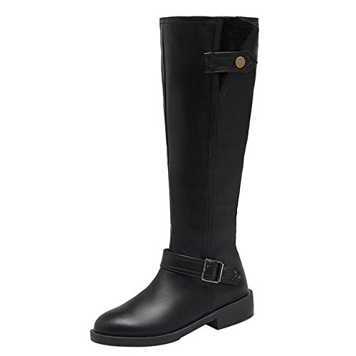 COOLCEPT Women Boots Zipper Black