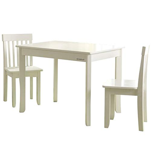 KidKraft Avalon II 3 Piece Table and Chair Set in White