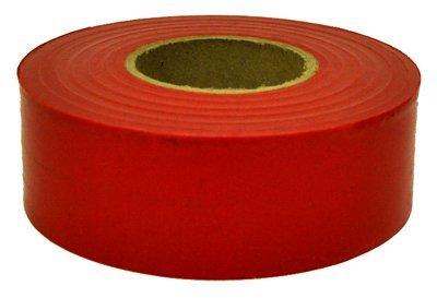 (24) Rolls Hanson 17021 300 ft RED Vinyl Flagging Tape / Marking Ribbon