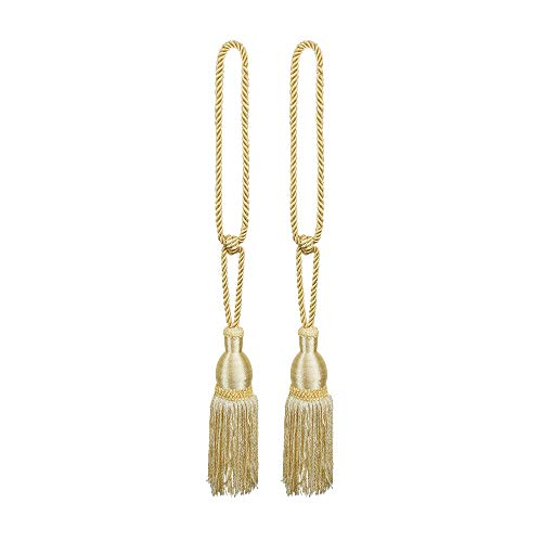 Victoriaville Queen Curtain/Drapery Tiebacks/Holdbacks/Tassels, Pair of 2, Beige, -