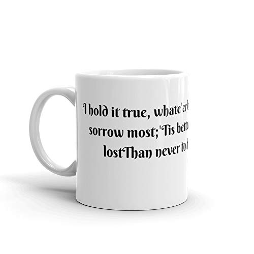 Tyna Ho Alfred Lord Tennyson C-shape Handle Mugs Made Of Durable Ceramic With An Easy Grip Handle This Coffee Mug Has A Hefty But Classic Feel Flawless Glaze Finish.