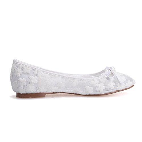 de de noche más 9872 boda la de de pisos mujeres de ballet baile elegantes azul 21 de real bomba Las zapatos encaje fiesta nupcial URx8qPR