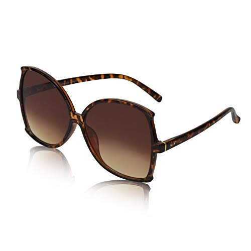 (Womens Sunglasses Fashion Sunglasses For Women Brown Gradient Tortoise Glasses)