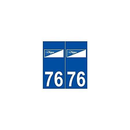 76 dieppe sticker plate logo stickers city