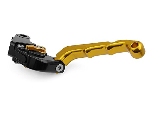 Motorcycle Racing Sport Logo CNC Folding Brake Clutch Flip-up Style Foldable Levers Gold Fit For Ducati 848/EVO 2007 2008 2009 2010 2011 2012 (H-11/F-11)