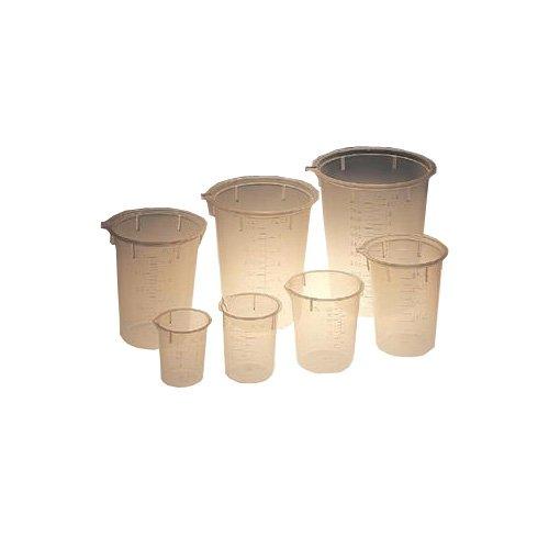 Maryland Plastics L-1200 Polypropylene Disposable Beaker, Graduated, 15 mL (Pack of 100)