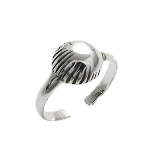 SANDRA Fashion Design silver-tone Clam Shell Toe Ring