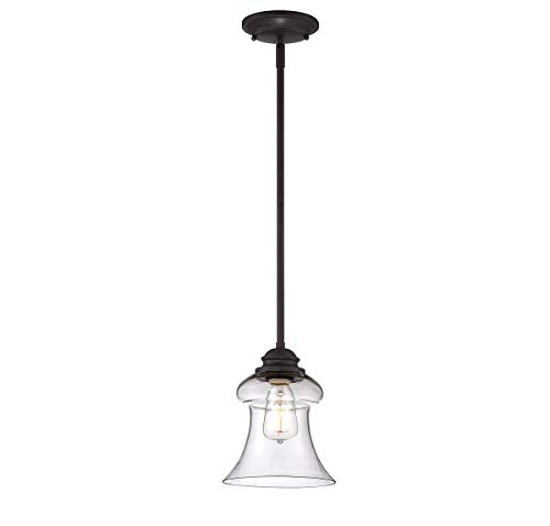 (Savoy House Lighting 7-4132-1-13 Casual Lifestyles 1 Light Mini-Pendant and Clear Glass Shade, English Bronze)