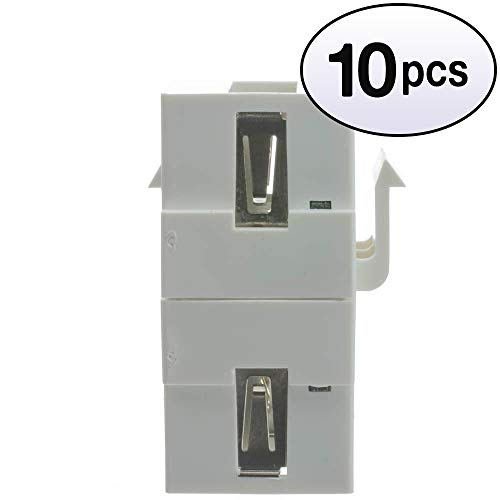 GOWOS (10 Pack) Keystone Insert, White, USB 2.0 Type A Female ()