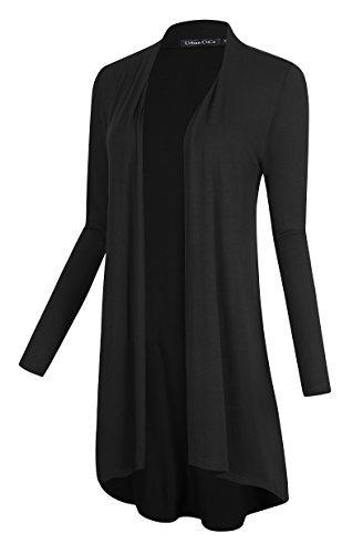 Long Black Sweater Coat - 6