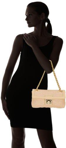 Sebastian Tasche Dreieck plus kettenriemen, Beige MERCER BAGVATRANAT - Bolso pequeño de cuero para mujer, color beige, talla 30x20x15 cm Beige (Beige (Nude))