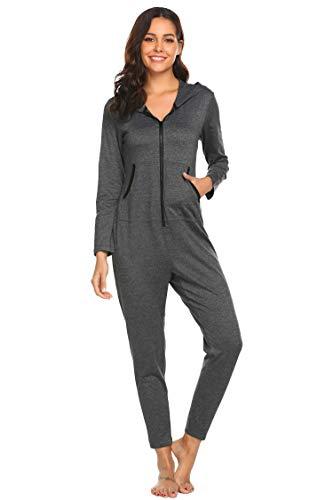 Ekouaer Christmas Onesie Adult Jumpsuits Pajamas