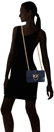 Mini Azul Vitello Seta hombro Pinko y Iride Simply Shoppers bolsos Blu Mujer Love de Tracolla fgSSxnd7
