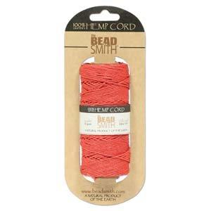 Hemp Twine Bead Cord 1mm 197 Feet SCARLET RED 42668 by - Beadsmith Hemp
