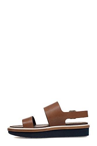 Tods Damen XXW23A0S920AOFS801 Braun Leder Sandalen