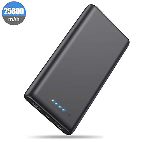 Portable Charger Power Bank 25800mah Classic Portable Phone Charger High-Capacity Battery Pack Dual Output with 4 LED Indicators Charging External Battery Charger for Smartphone,Android,Tablet etc