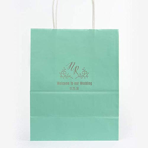 Wedding Welcome Bags, OOT Hotel Tote, Gift Bags, Custom Printed with name 285