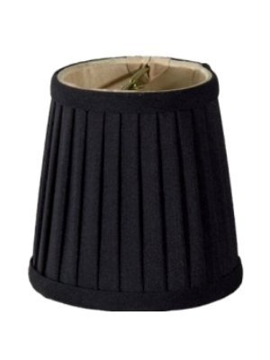 - Upgradelights Black Silk Side Pleat 4 Inch Mini Clip On Chandelier Lampshade (3x4x4)