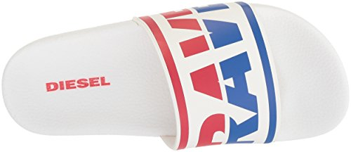 Diesel- Man En-lohaa Sa-maral Glid Sandal Vit / Victoria Blue / Formel Ett