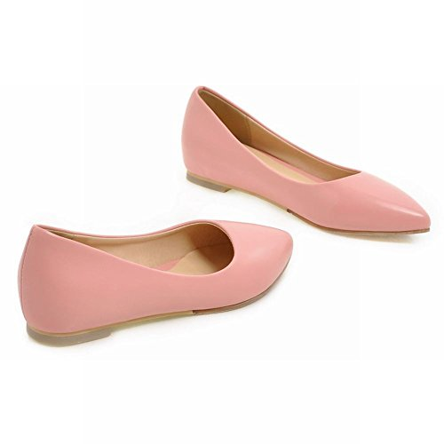 Casual Womens Toe Latasa Flats Inside Pink Pointed Low Pumps Wedges q5wAHdw