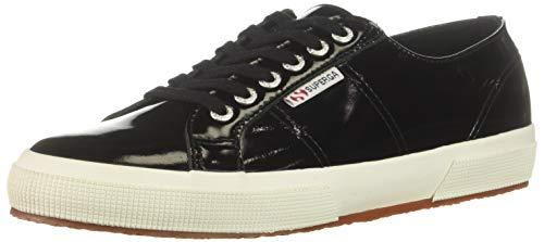 Patent Sneakers Leather (Superga Women's 2750 LEAPATENTW Sneaker, Black Patent, 38 M EU (7.5 US))